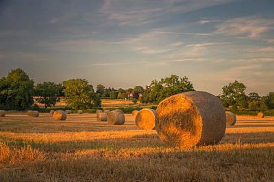 An Evening Amongst The Hay Print by Chris Fletcher