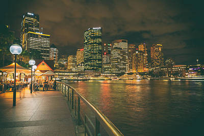 An Evening On The Waterfront - Sydney Print by Mountain Dreams