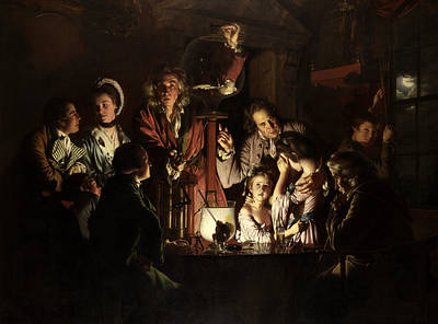 18th Century Painting - An Experiment On A Bird In An Air Pump  by Joseph Wright