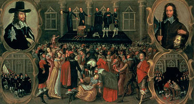 Axes Painting - An Eyewitness Representation Of The Execution Of King Charles I by John Weesop