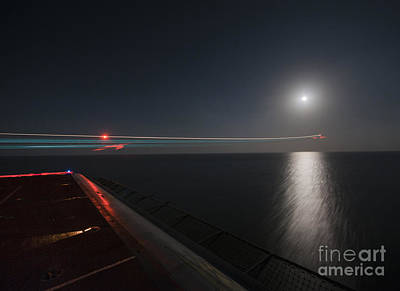 An F A-18 Hornet Launches. Print by Celestial Images