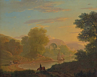 Painting - An Imaginary Coast Scene With The Temple Of Venus At Baiae by Thomas Jones