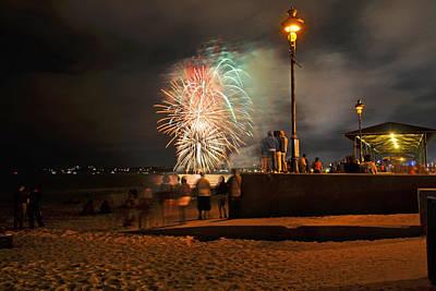 Spectators Digital Art - An Impressive Display Revere Beach Fireworks 2015 2 by Toby McGuire