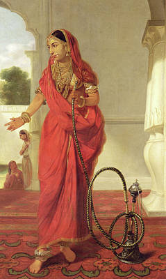 Hookah Painting - An Indian Dancing Girl With A Hookah by Tilly Kettle