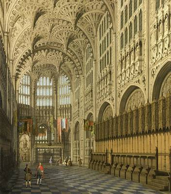 Westminster Abbey Painting - An Interior View Of The Henry Vii Chapel by Giovanni Antonio