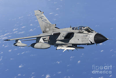 An Italian Air Force Tornado Ids Armed Print by Gert Kromhout