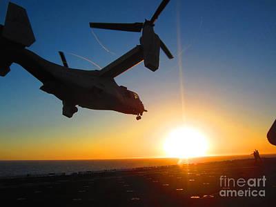 Osprey Painting - An Mv-22 Osprey Tilt-rotor Aircraft by Celestial Images