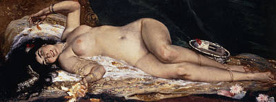 Prostitutes Painting - An Odalisque by Ferdinand Roybet