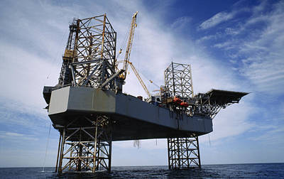 Photograph - An Oil And Gas Drilling Platform by Justin Guariglia