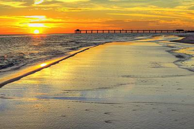 An Okaloosa Island Sunset Print by JC Findley