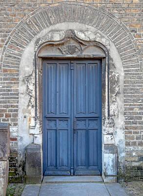 An Old Church Door Print by W Chris Fooshee