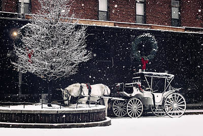 An Old Market Christmas Print by Bobbi Anderson