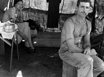 1930s Candid Photograph - An Unemployed Lumber Worker by Everett