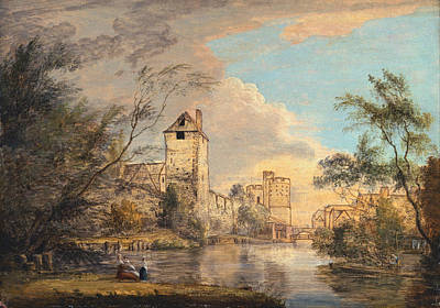 Paul Sandby Painting - An Unfinished View Of The West Gate. Canterbury by Paul Sandby