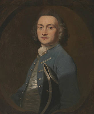 18th Century Painting - An Unknown Man by Joshua Reynolds