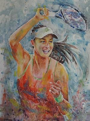 Ana Ivanovic Painting - Ana Ivanovic - Portrait 1 by Baresh Kebar - Kibar