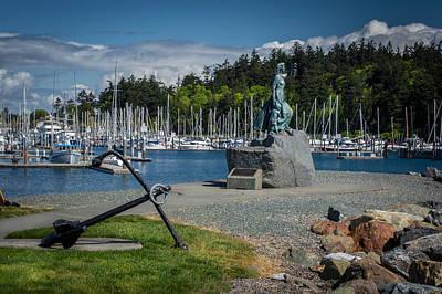 Hiking Photograph - Anacortes Washington Harbor by Michael J Bauer