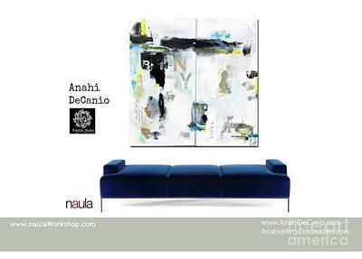 Digital Art - Anahi Decanio Artwork - Naula Stiletto Settee by Anahi DeCanio