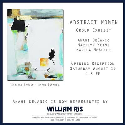 Painting - Anahi Decanio Exhibits At William Ris Gallery East by Anahi DeCanio