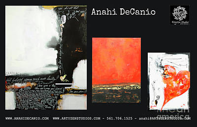 Digital Art - Anahi Decanio Mixed Media Artwork On Canvas by Anahi DeCanio