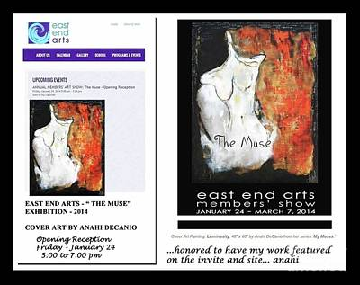 Painting - Anahi Decanio The Muse At East End Arts by Anahi DeCanio
