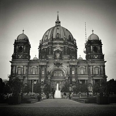 Berlin Photograph - Analog Black And White Photography - Berlin Cathedral by Alexander Voss