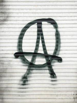 Anarchist Symbol Print by Jannis Werner