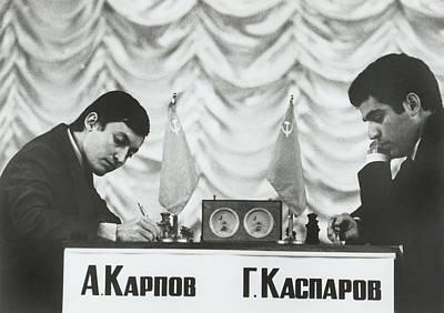 Anatoly Karpov And Gari Aka Gary Print by Everett