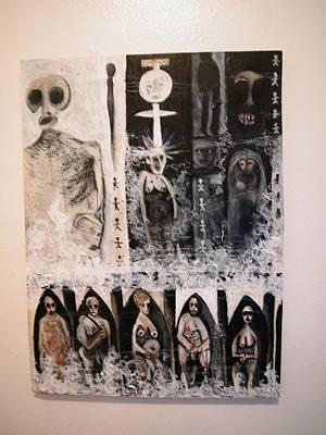 Weusi Art Mixed Media - Ancestorial Rising by Robert Daniels