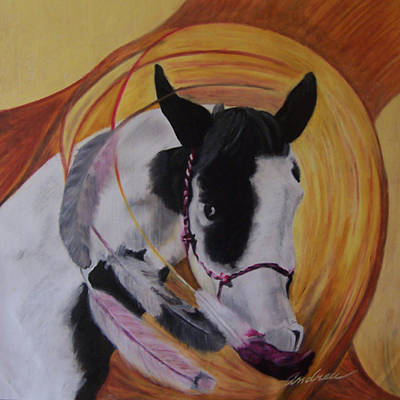 Horse Pastel - Ancestry by Andrea Inostroza