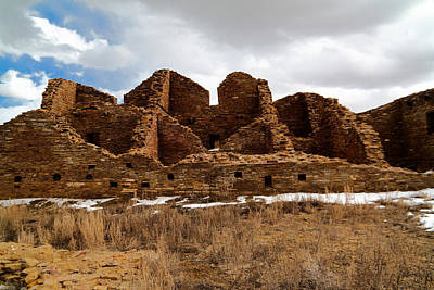Chaco Canyon Photograph - Ancient Buildings Chaco Canyon by Jeff Swan