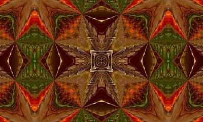 Orange Digital Art - Ancient Emblem - Design by Georgiana Romanovna