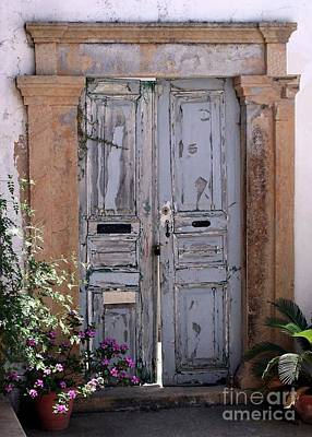 Ancient Garden Doors In Greece Print by Sabrina L Ryan