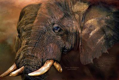 Elephant Mixed Media - Ancient Giants by Carol Cavalaris