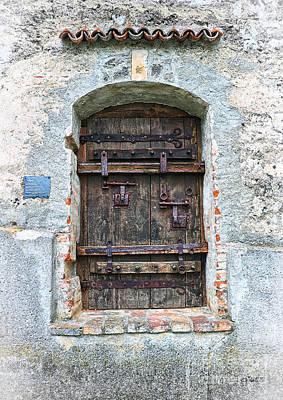 Ancient Gothic Door Print by Jutta Maria Pusl