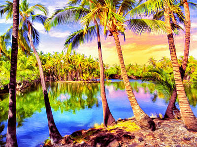 Ancient Hawaiian Fishponds At Mauna Lani Print by Dominic Piperata