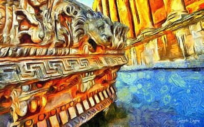 Pavement Painting - Ancient Remembrances - Pa by Leonardo Digenio