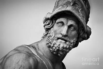 Head Photograph - Ancient Sculpture. Florence, Italy by Michal Bednarek