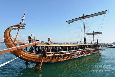 Ancient Photograph - Ancient Trireme by George Atsametakis