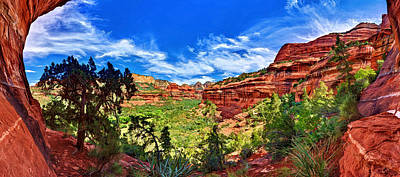 Ancient Vision - Boynton Canyon Print by Bill Caldwell -        ABeautifulSky Photography