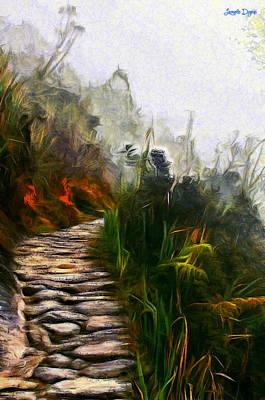 Countryside Digital Art - Ancient Way - Da by Leonardo Digenio