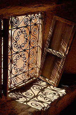 Morocco Photograph - Ancient Window And Shutter In The Historic Kasbah Amerhidil In T by Reimar Gaertner