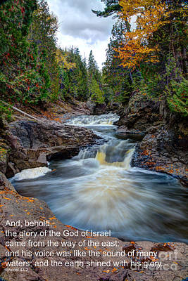 Temperance River Photograph - And His Voice Was Like The Sound Of Many Waters by Wayne Moran