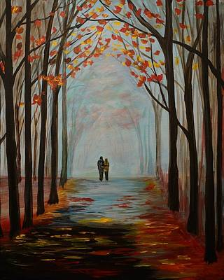 Nightime Painting - And I Love You So by Leslie Allen
