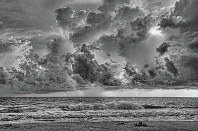 Weathered Photograph - And The Rains Came 2 - Clouds by HH Photography of Florida