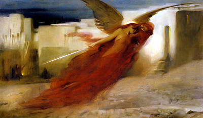 And There Was A Great Cry In Egypt Print by Arthur Hacker