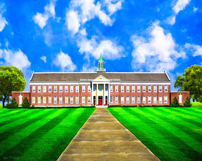 Old Main - Andalusia High School Print by Mark E Tisdale
