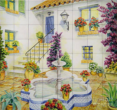 Andalusian Patio Print by Jose Angulo