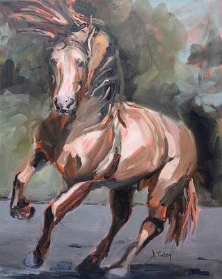 Stallion Painting - Andalusian Stallion by Donna Tuten