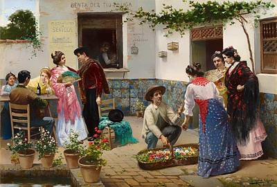 Seville Painting - Andalusians Sale by Mountain Dreams